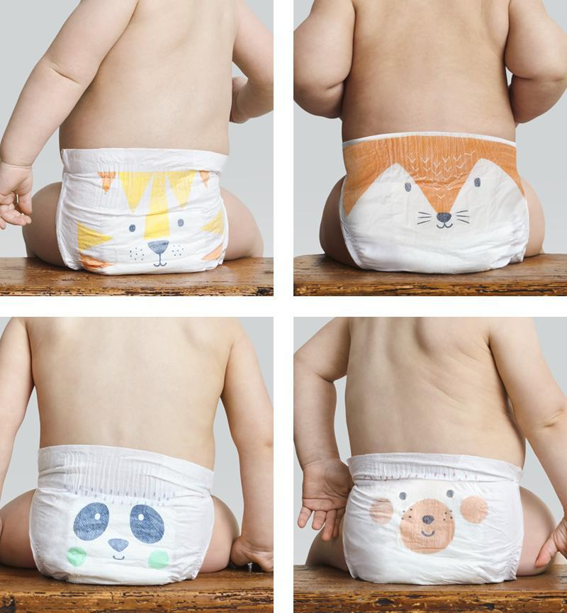 Eco Nappies Naturally Dry - 40 nappies - Size 1 (2-6 kg)