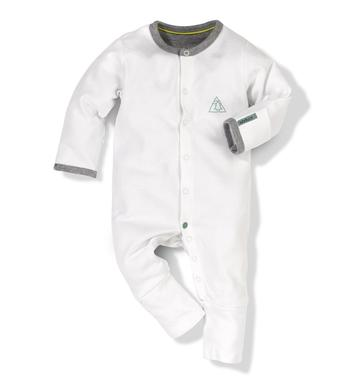 White All-in-one - Size: 0-3 months