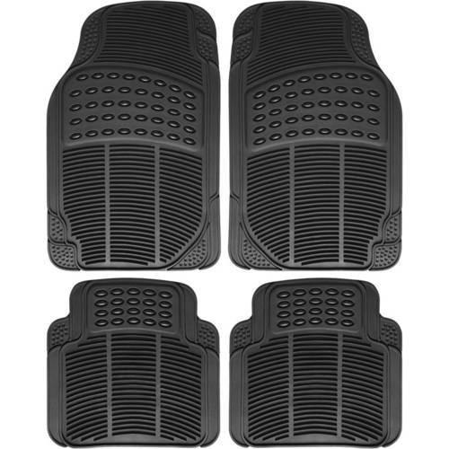 GEAR & GO CAR MAT/BLACK PVC MATERIAL/4PCS