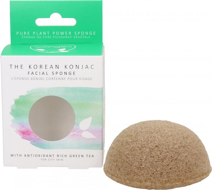 THE KOREAN KONJAC FACIAL SPONGE - WITH ANTIOXIDANT RICH GREEN TEA