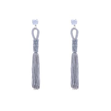 Zuzu tassel earrings grey