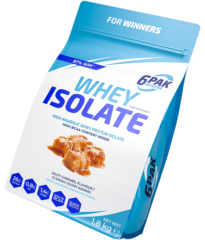 6PAK Nutrition Whey Isolate 1.8kg - Salty Caramel