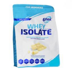 6PAK Nutrition Whey Isolate 1.8kg - White Chocolate