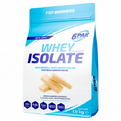 6PAK Nutrition Whey Isolate 1.8kg - Cream Wafers