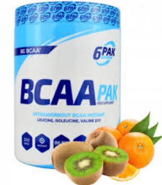 6PAK Nutrition Bcaa Pak 900g - Kiwi Orange