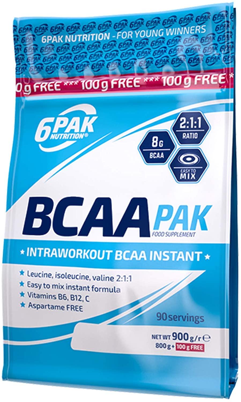 6PAK Nutrition Bcaa Pak 900g - Lychee Grape