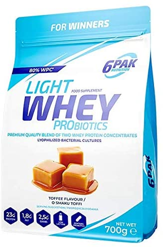 6PAK Nutrition Light Whey 1.8kg - Toffee