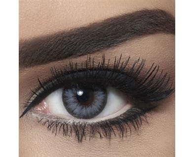 BELLA COULOURED CONTACT LENSES - GLITTER GRAY -1.75