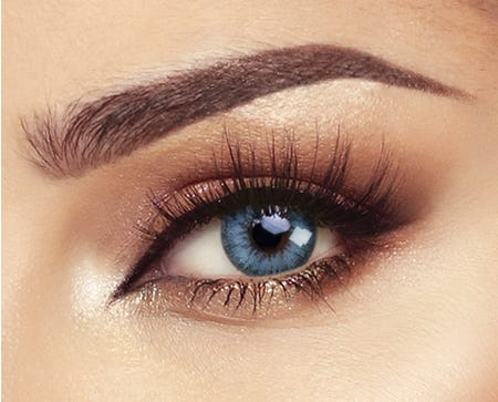 BELLA COULOURED CONTACT LENSES - PACIFIC BLUE -1.00