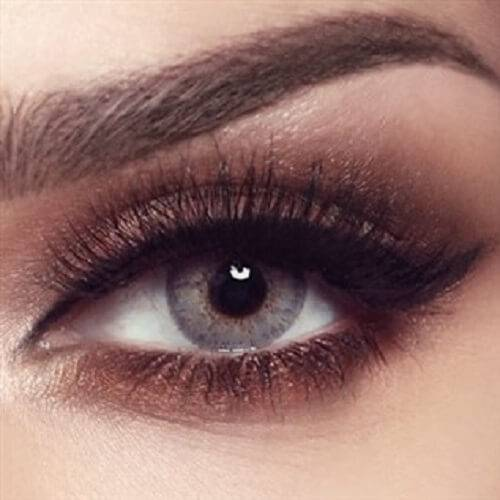 BELLA COULOURED CONTACT LENSES - MINT GRAY -5.00