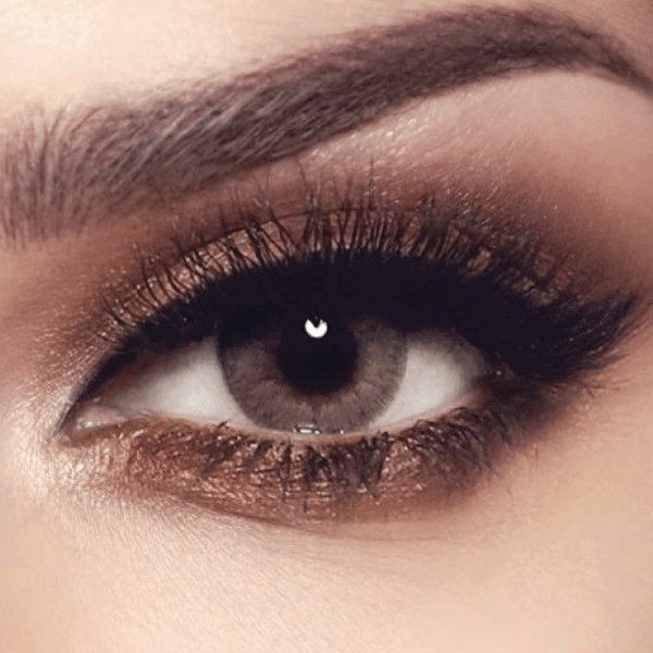 BELLA COULOURED CONTACT LENSES - SANDY GRAY -0.75