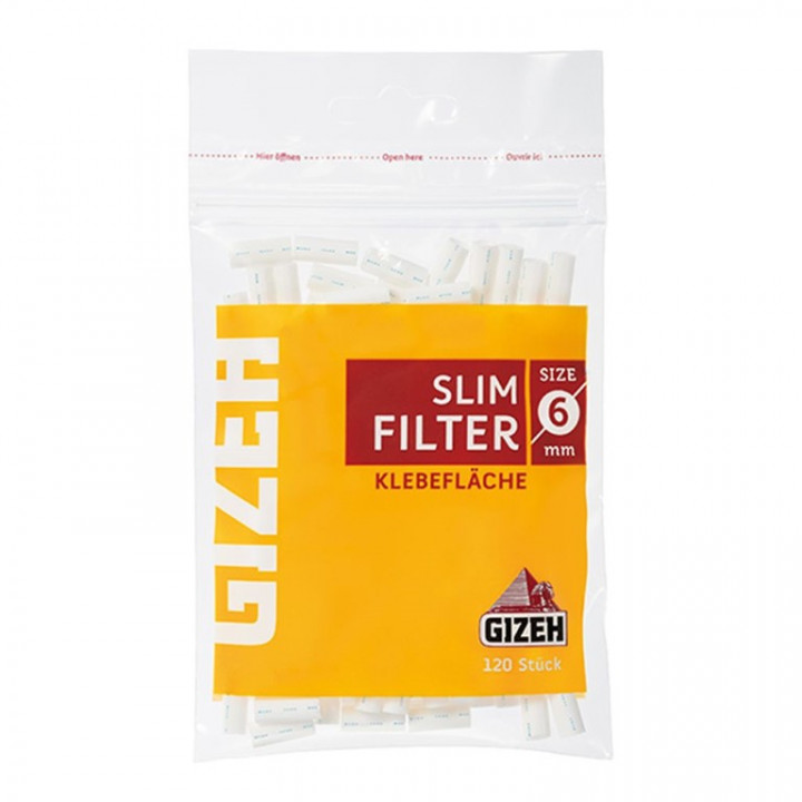 GIZEH SLIM FILTER SIZE 6 MM 120+30 FREE