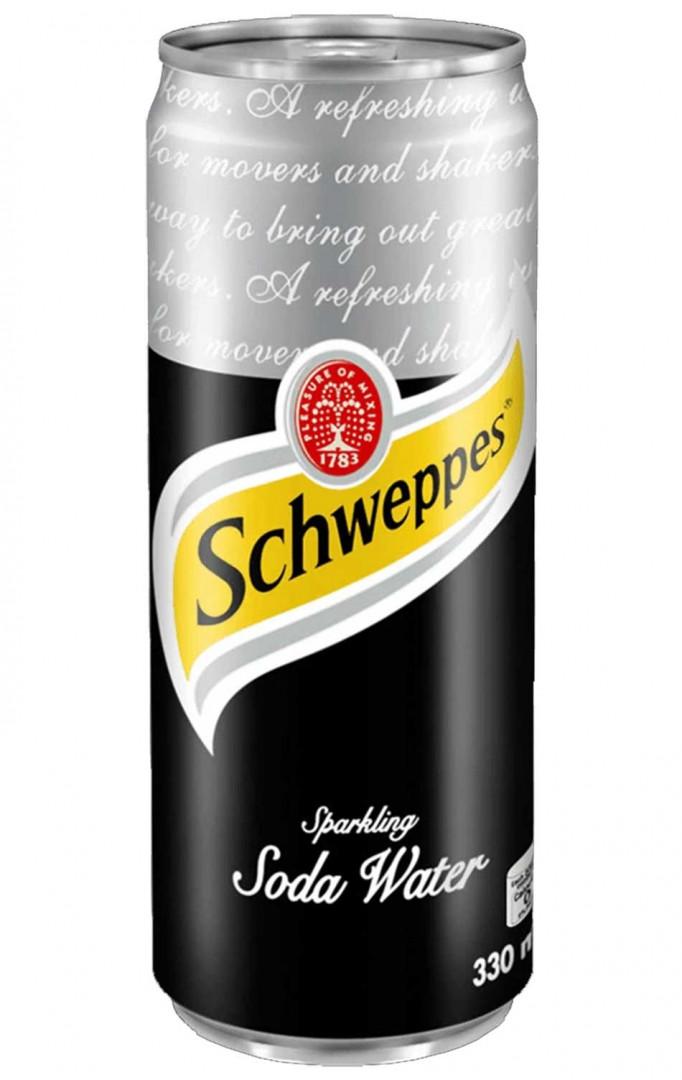 Schweppes soda water 330ml