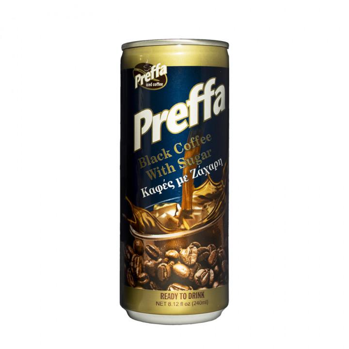 Preffa black coffee with sugar 240ml