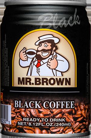 Mr.Brown black coffee no sugar 240ml