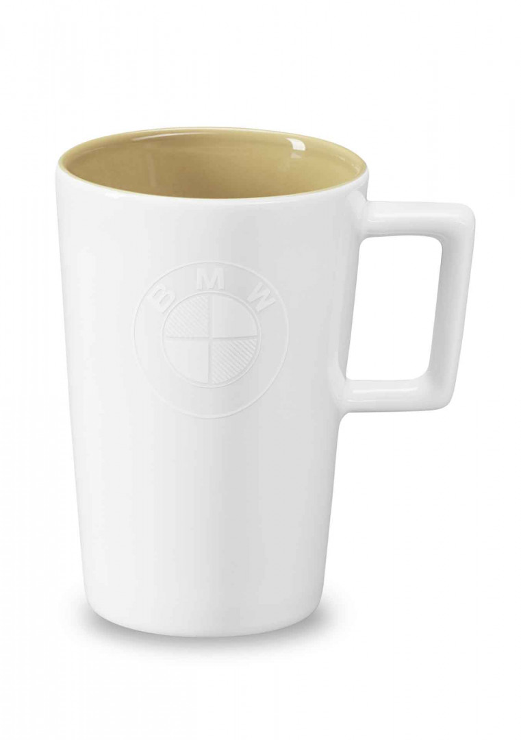 BMW cup, logo, large - White/ Sand