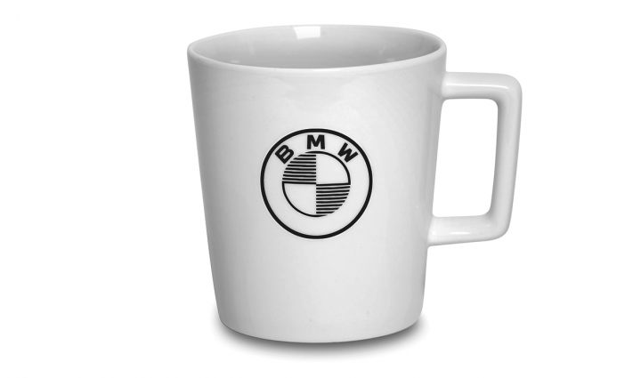 BMW cup with logo - White