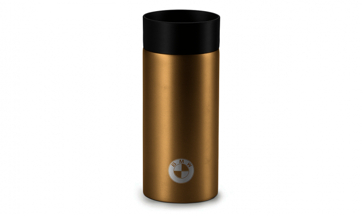 BMW thermo mug logo - Sand / Black