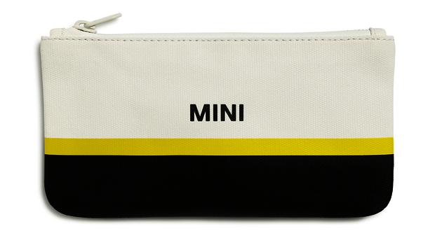 MINI Pouch Small  - Wht / Black / Yellow