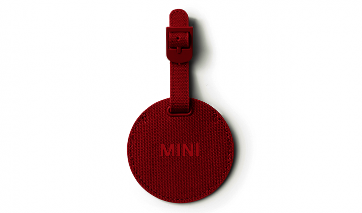 MINI luggage tag round - Chili Red