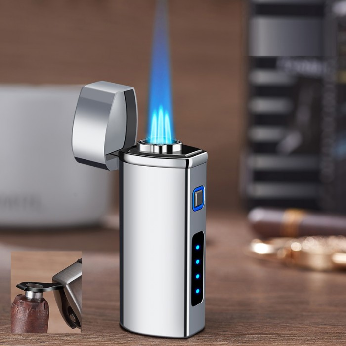 GG 026-S Torch lighter SILVER gas 3 flame