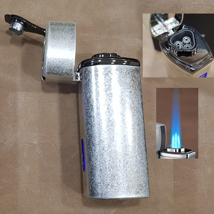 GG 026-ANS Torch lighter Ancient SILVER gas 3 flame