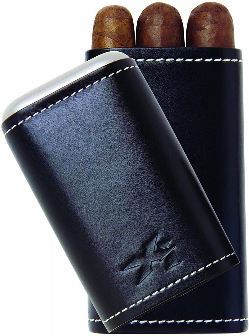 XIKAR Envoy Cigar Case BLACK 3CT