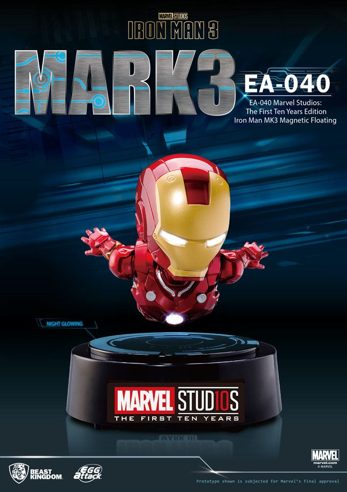 Iron Man 3 Egg Attack Floating Model Iron Man Mark III The First Ten Years Edition 16 cm