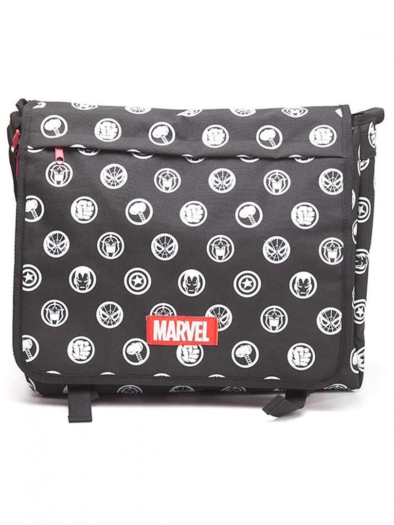 Marvel Comics- All Over Hero Crests Messenger Bag