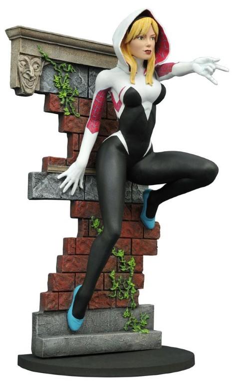 Marvel Gallery PVC Statue Spider Gwen Unmasked SDCC 2016 Exclusive 23 cm