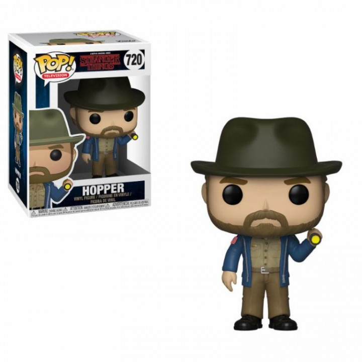 Stranger Things POP! TV Vinyl Figure Hopper & Flashlight 9 cm