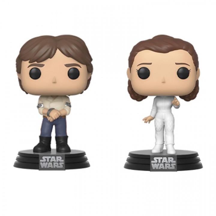 Star Wars POP! Movies Vinyl Figures 2-Pack Han & Leia Empire Strikes Back 40th Anniversary 9 cm