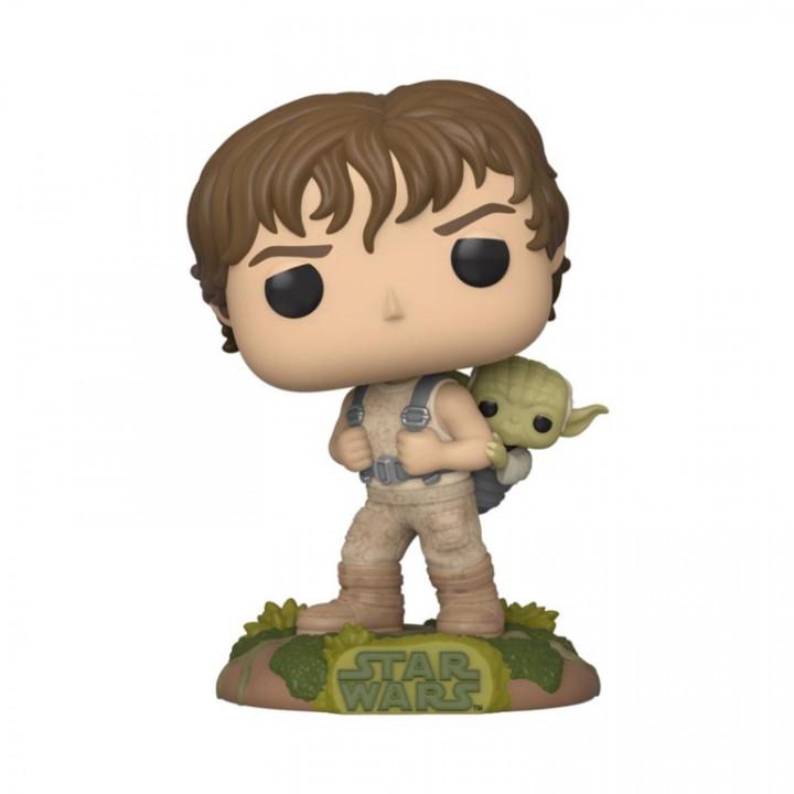 Star Wars POP! Movies Vinyl Figure Training Luke with Yoda 9 cm