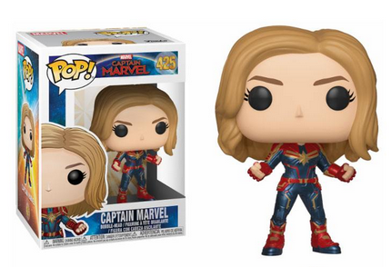 Captain Marvel POP! Marvel Bobble-Head Figures Captain Marvel 9 cm