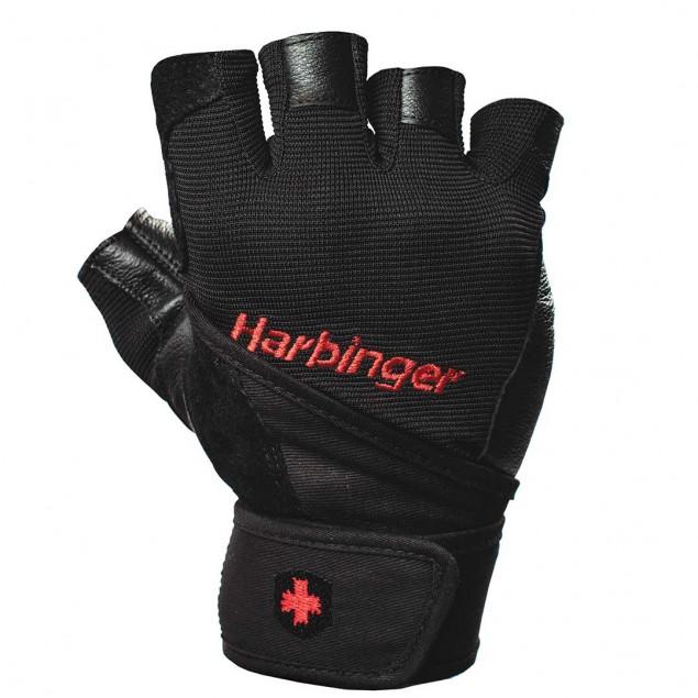 Harbinger Pro Wrist Wrap Gloves Black - Xlarge