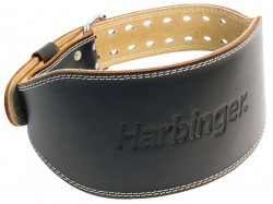 Harbinger 6 inches padded leather belt black -Small