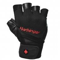 Harbinger Pro Wrist Wrap Gloves Black - Medium