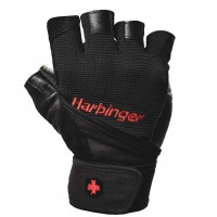 Harbinger Pro Wrist Wrap Gloves Black - Small