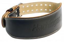 Harbinger 6 inches padded leather belt black - Large