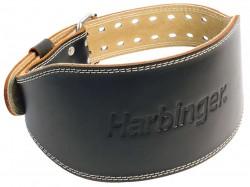 Harbinger 6 inches padded leather belt black -Medium