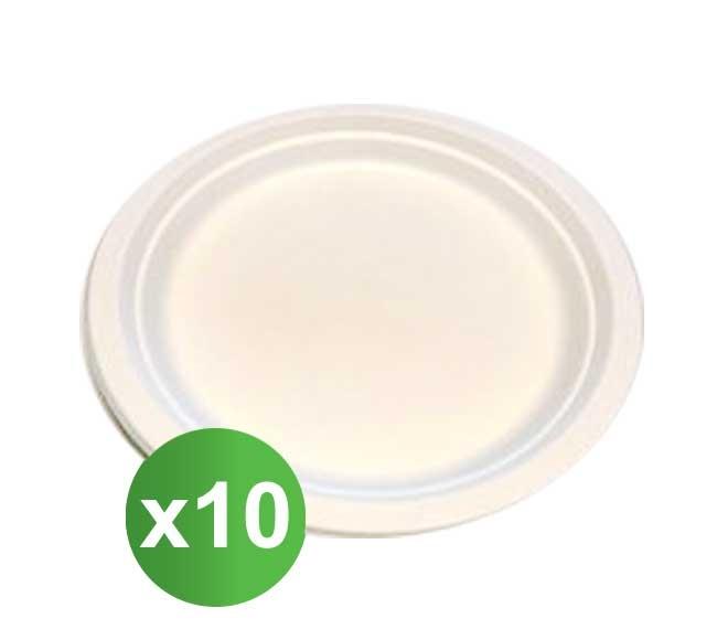 GO GREEN PAPER PLATES 17CM X10