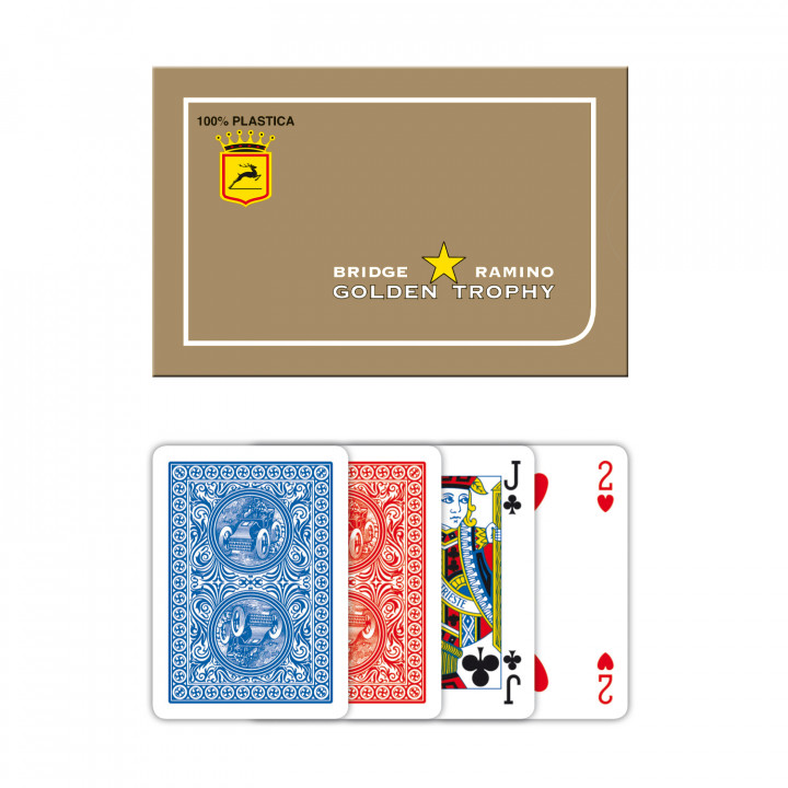PLAYING CARDS MODIANO GOLDEN TROPHY x2