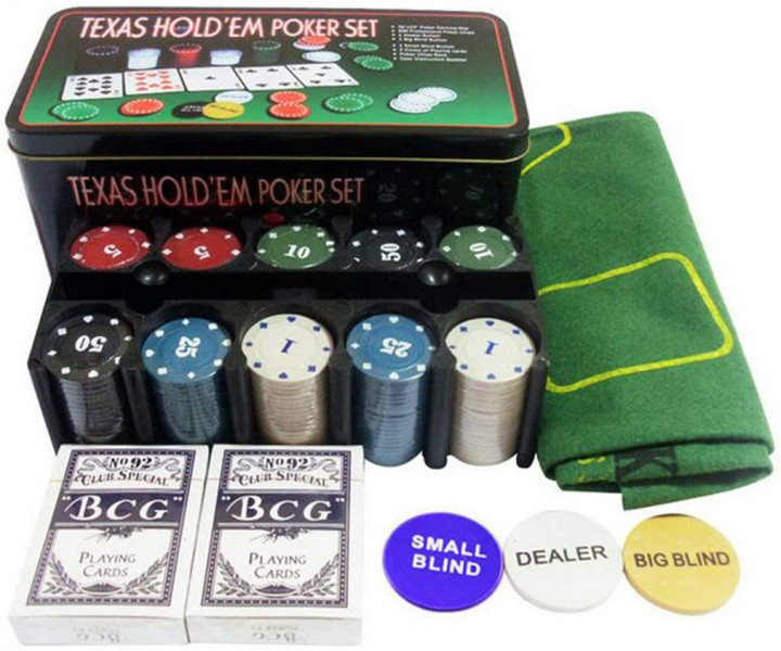 TEXAS HOLDEM POKER SET 200PCS