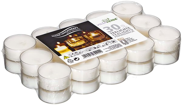 VILLAVERDE TEA LIGHT PLASTIC X30