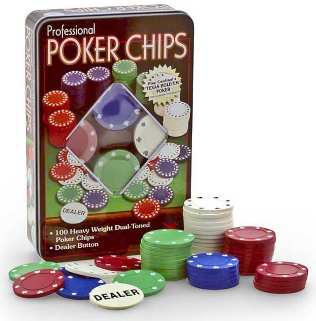 POKER CHIPS TIN BOX 100PCS