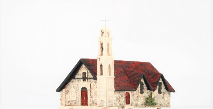 Church Ayios Georgios Alonas, Cyprus - 16cm x 24cm