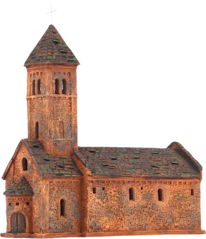 Church in Taize, Burgundy - 24CM