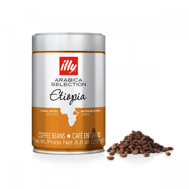ILLY 250GR CAN BEANS ETHIOPIA