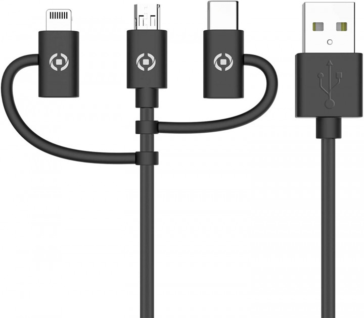 Celly Data Cable 3 in 1 Black