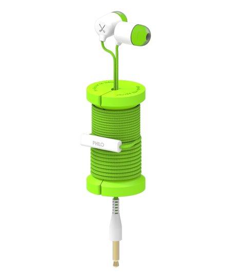 PHILO SPOOL EARPHONES GREEN